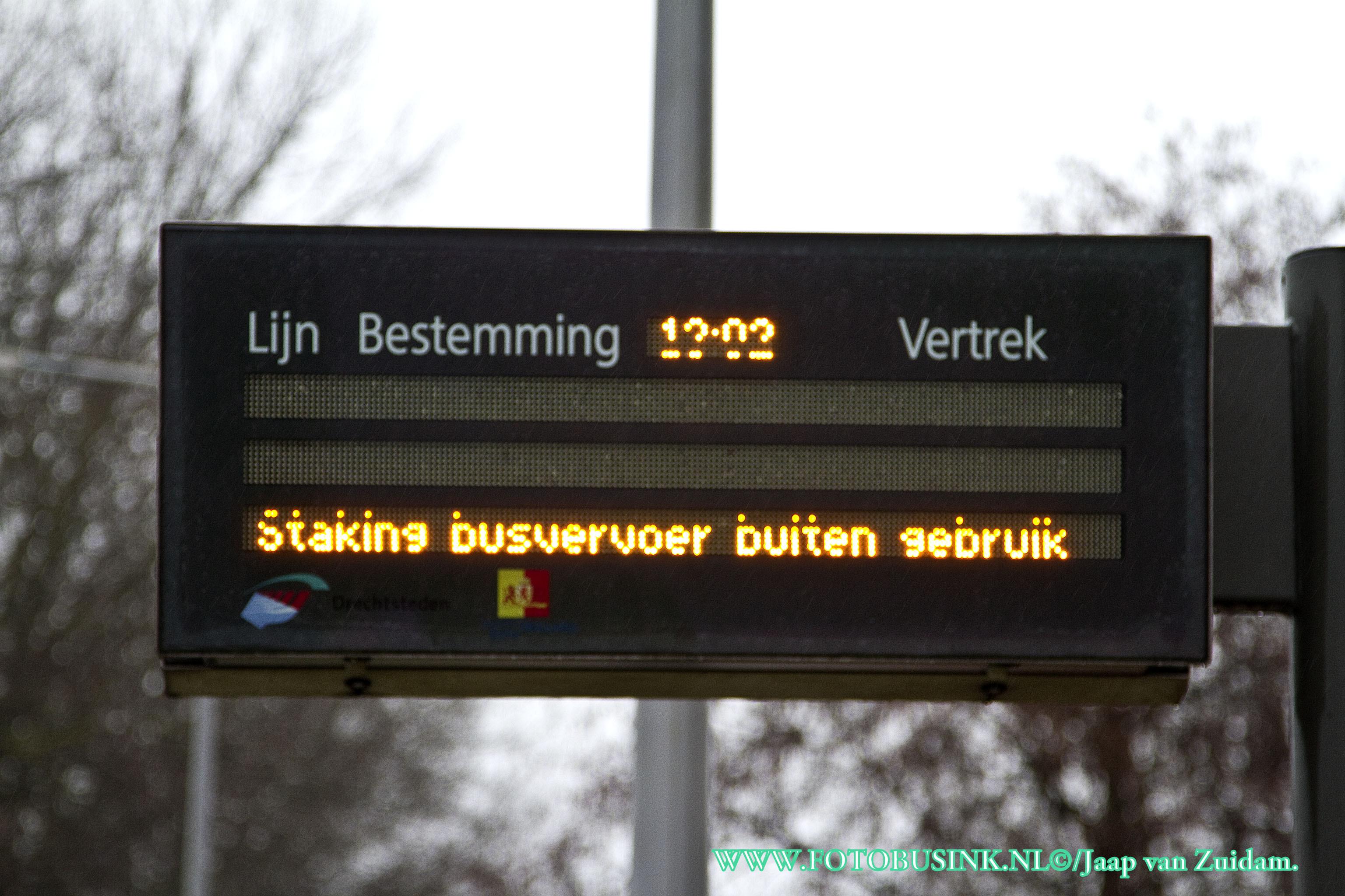 Staking bus/streekvervoer.