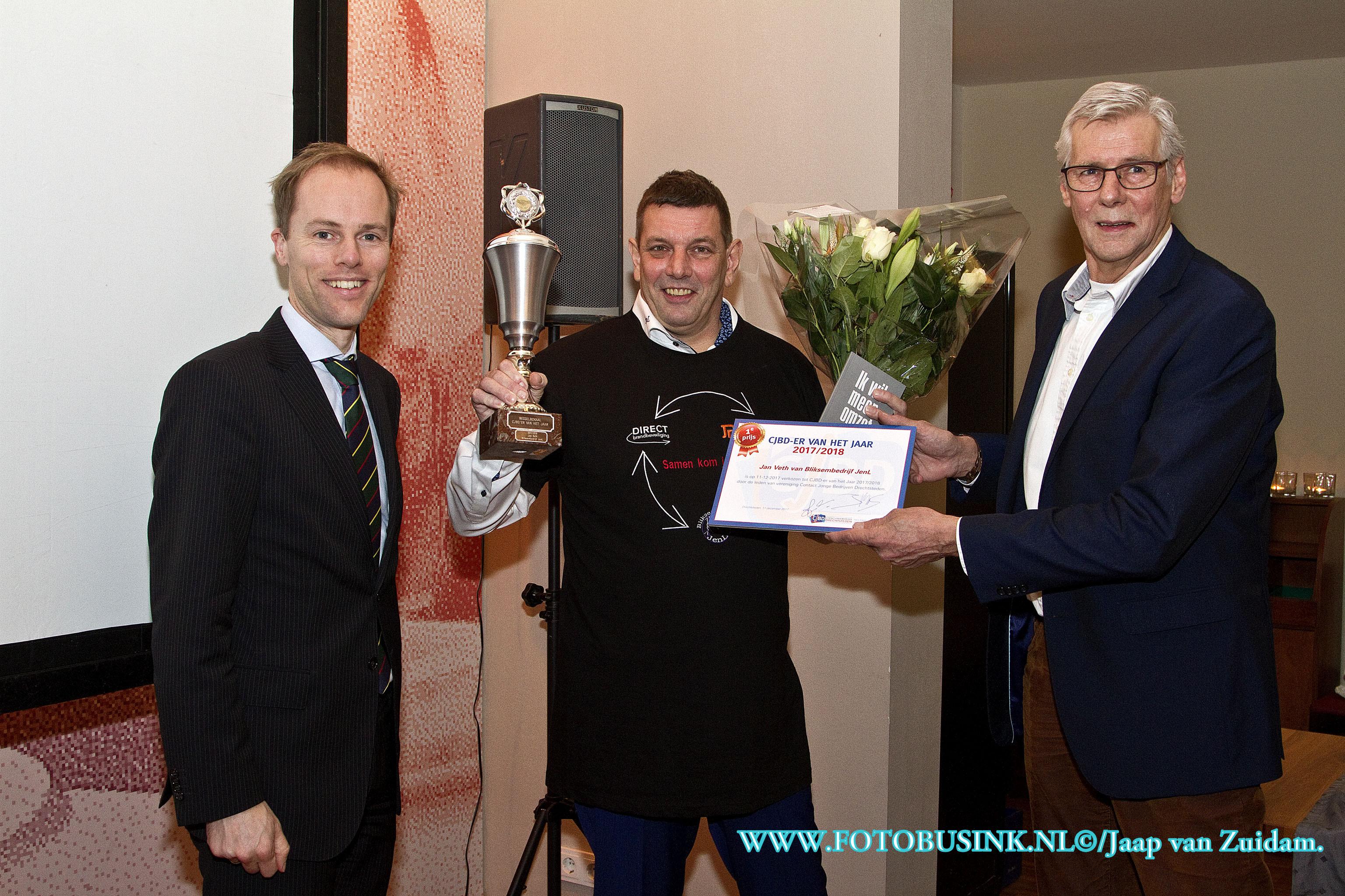 Jan Veth wint CJBD verkiezing 2017/2018 in Dordrecht.