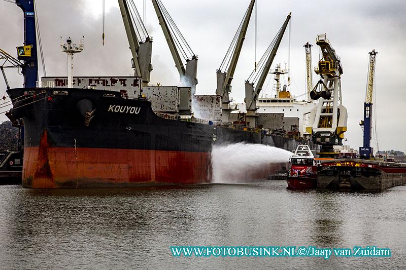 Panamees schip in brand