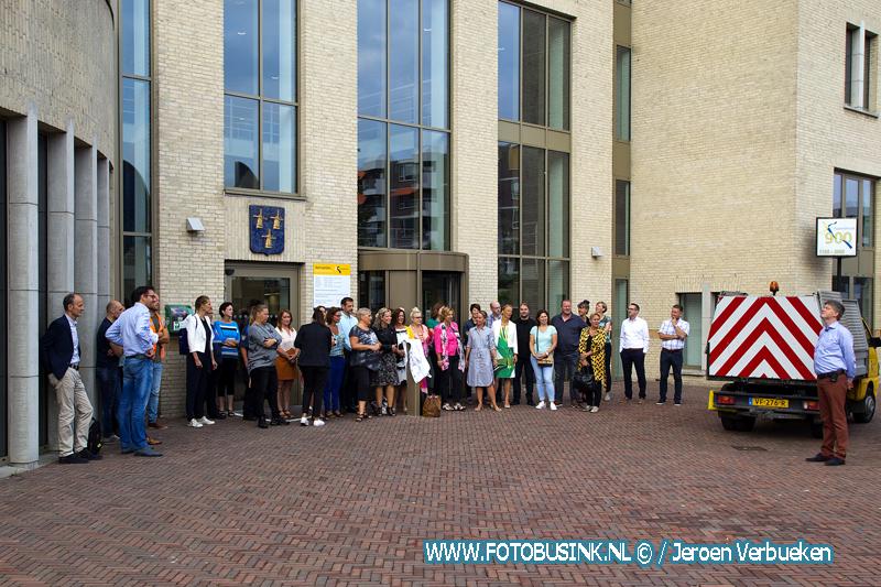 Gemeenteambetenaren Papendrecht druk met promotiefilmpje voor gemeente Papendrecht.