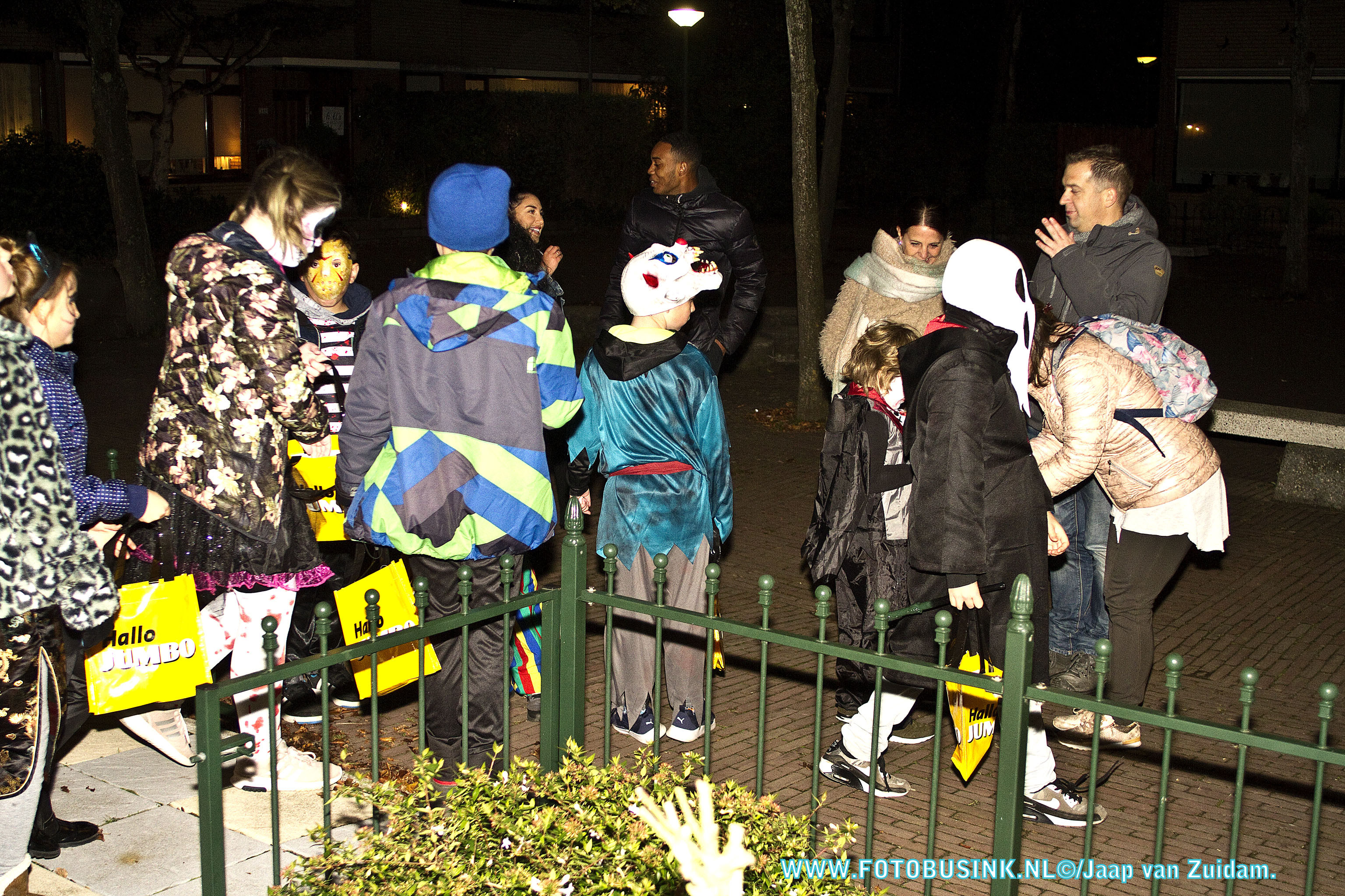 Halloweentocht in Sterrenburg een groot succes.