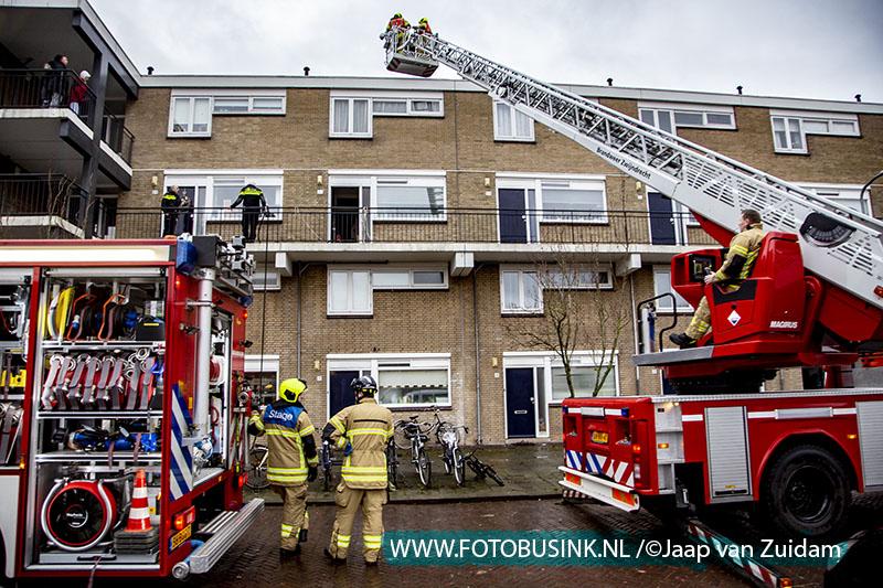 Binnenbrand flatwoning Heyenlande in Zwijndrecht