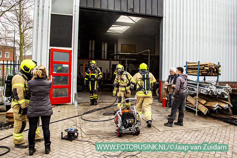 Brand in fabriekshal Alblasserdam