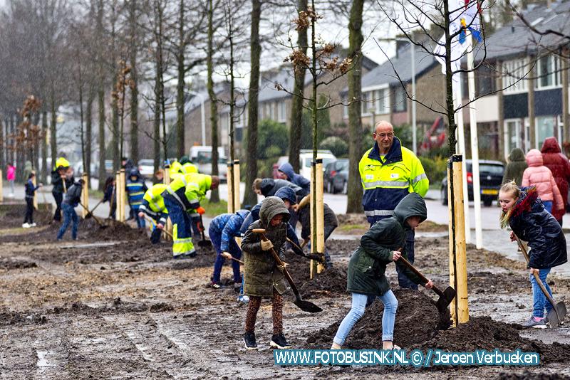 Boomfeestdag in Papendrecht.
