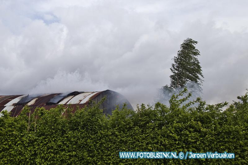 Brand in loods aan de Stevensweg in Dordrecht.