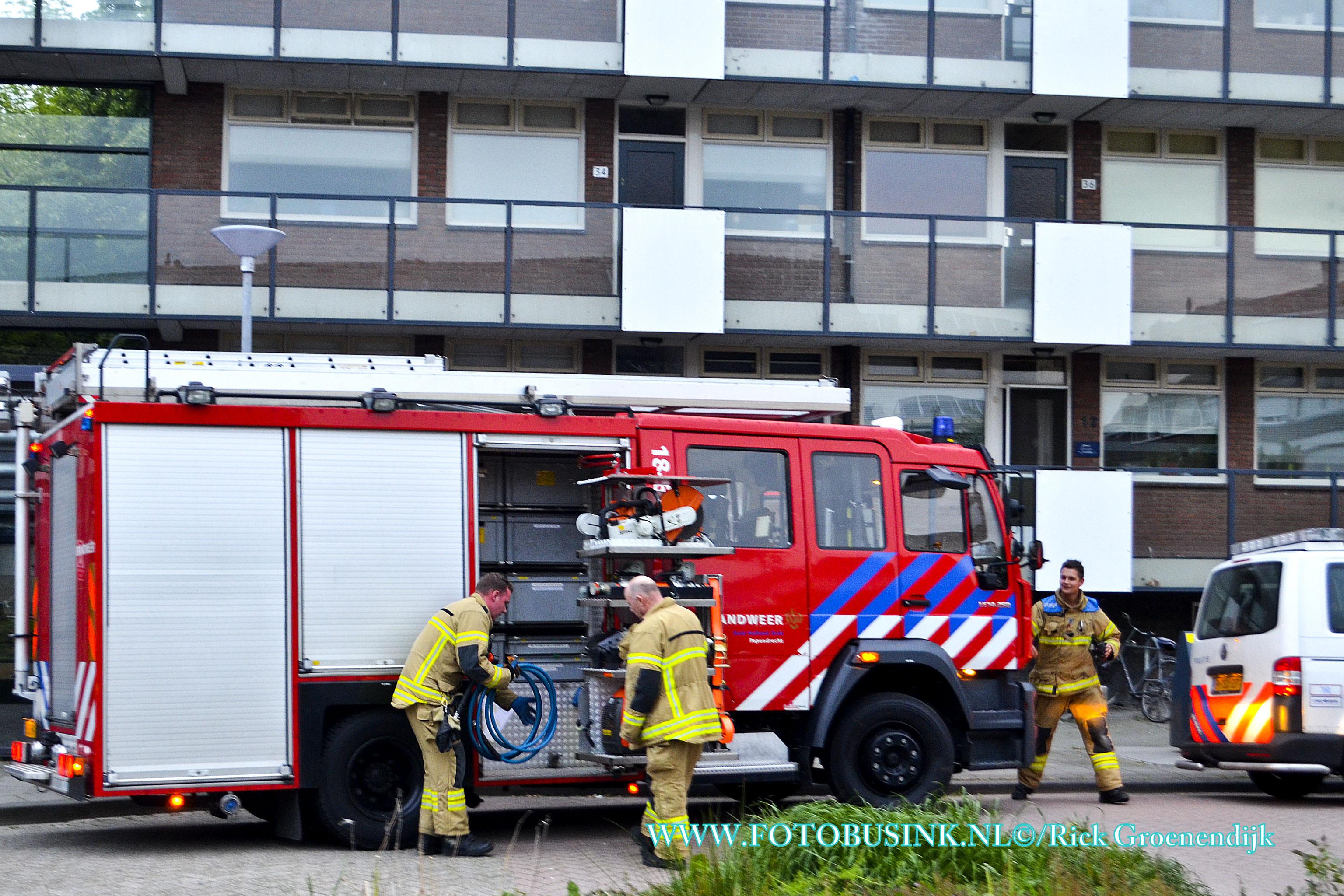 Politie roept assistentie van de brandweer Papendrecht voor een gestolen scooter.