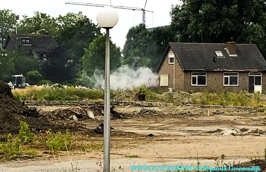 Brand in leegstaande woning aan de Tiendweg-Oost in Papendrecht.