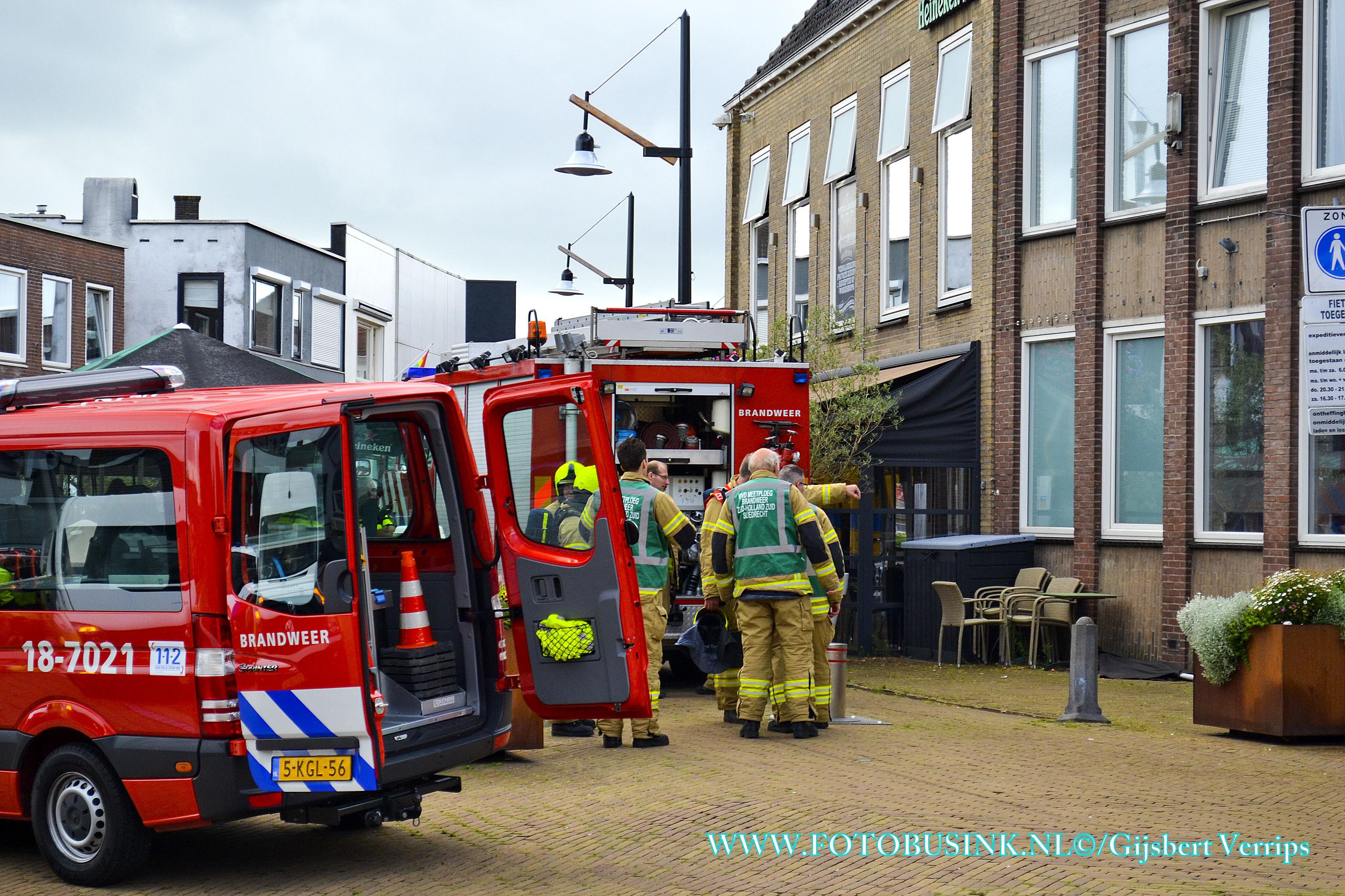 Sterke gaslucht op de Kerkbuurt in Sliedrecht.