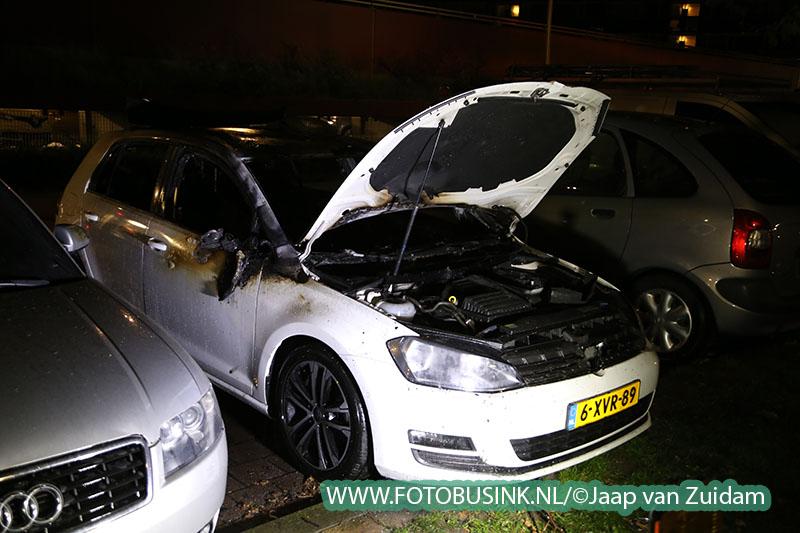 Auto volledige uitgebrand