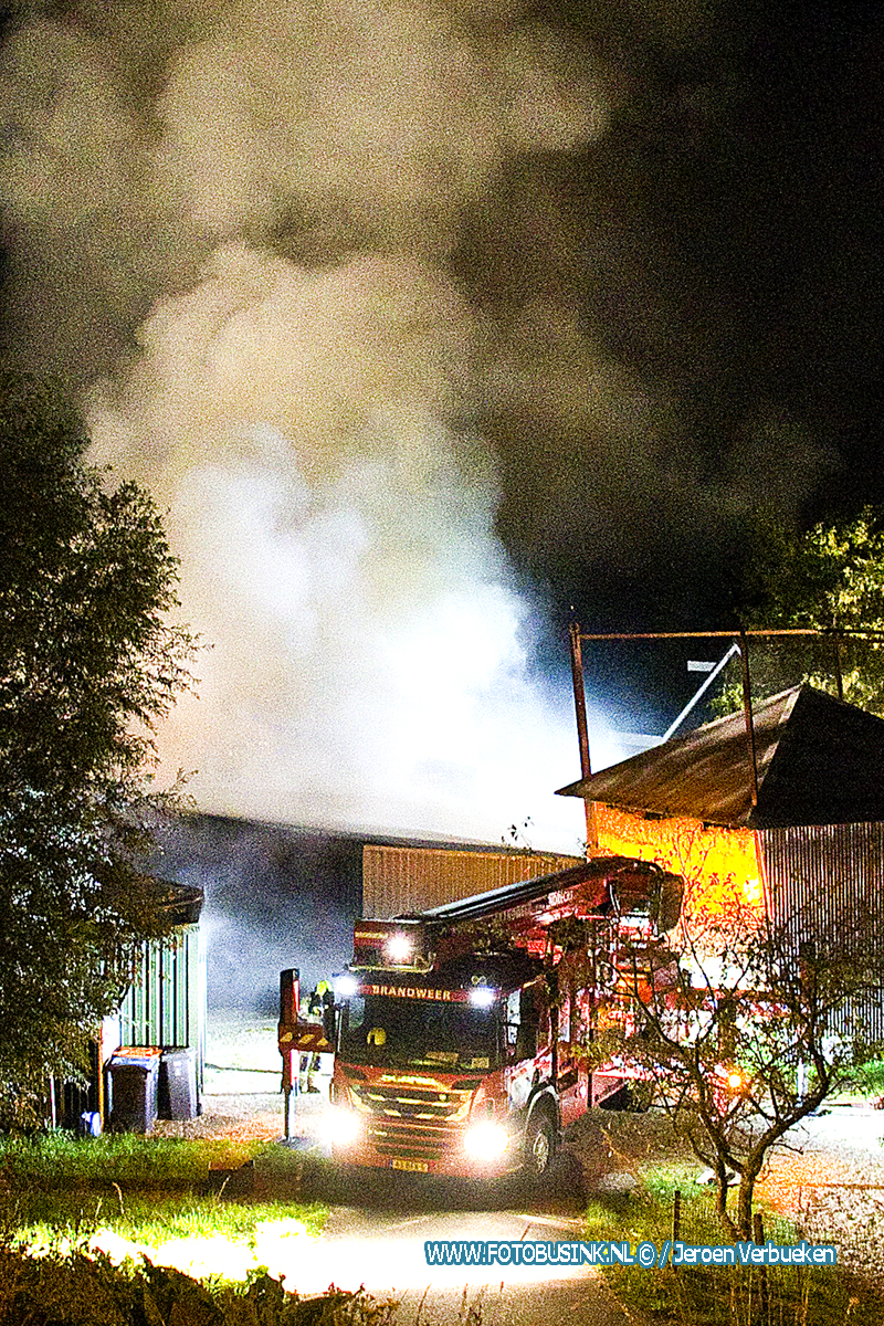 Grote brand aan de Bergstoep in Streefkerk.