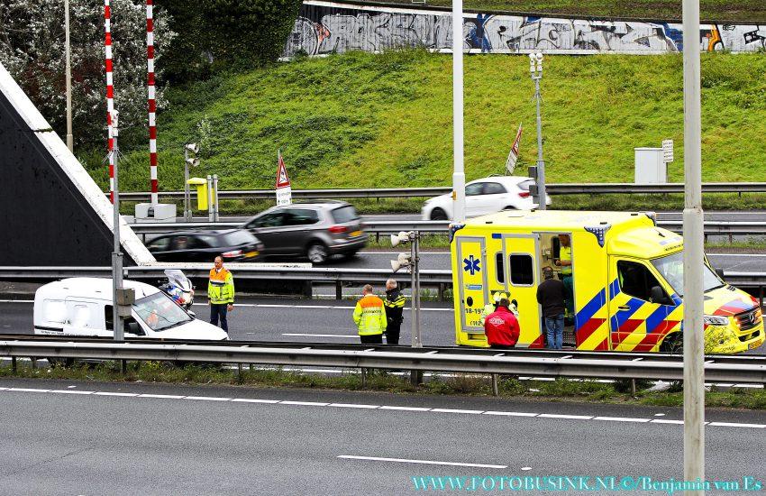 Ongeval letsel Rijksweg A16 Dordrecht.