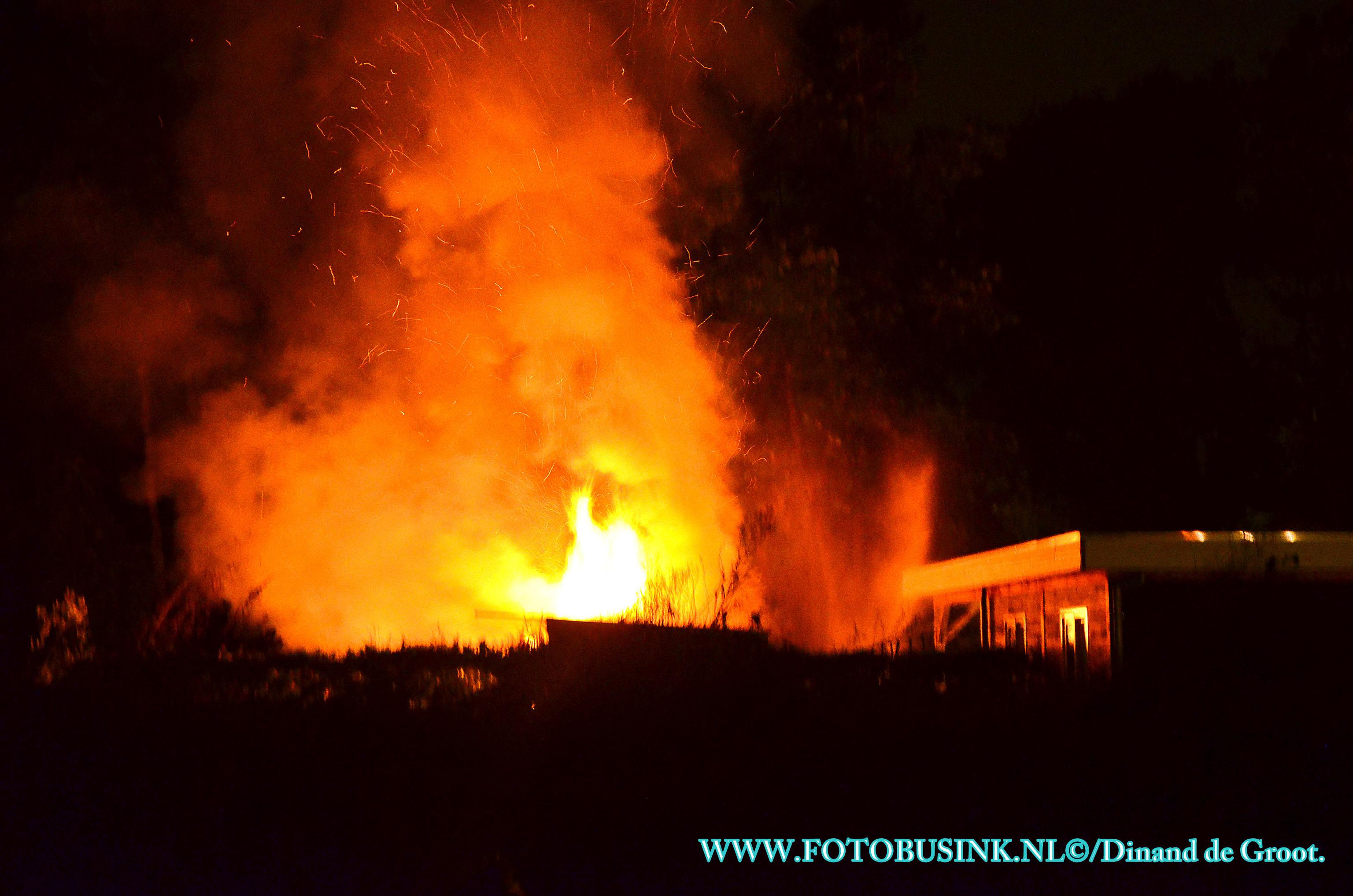 Uitslaande brand bij zorginstelling de Merwebolder in Sliedrecht.