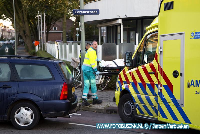 Aanrijding letsel auto fiets Bankastraat Dordrecht.