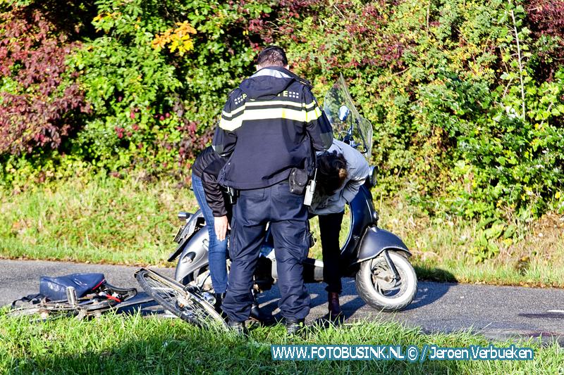 Aanrijding letsel fietspad rondweg N3 in Dordrecht.