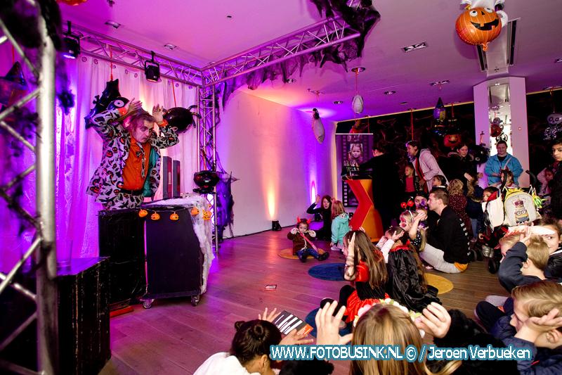 Halloweenhuis in de binnenstad van Dordrecht.