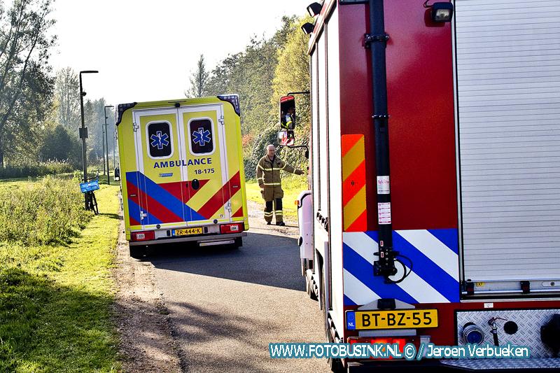 Hulpdiensten opgeroepen voor een beknelling aan het Kors Monster-pad in Dordrecht.