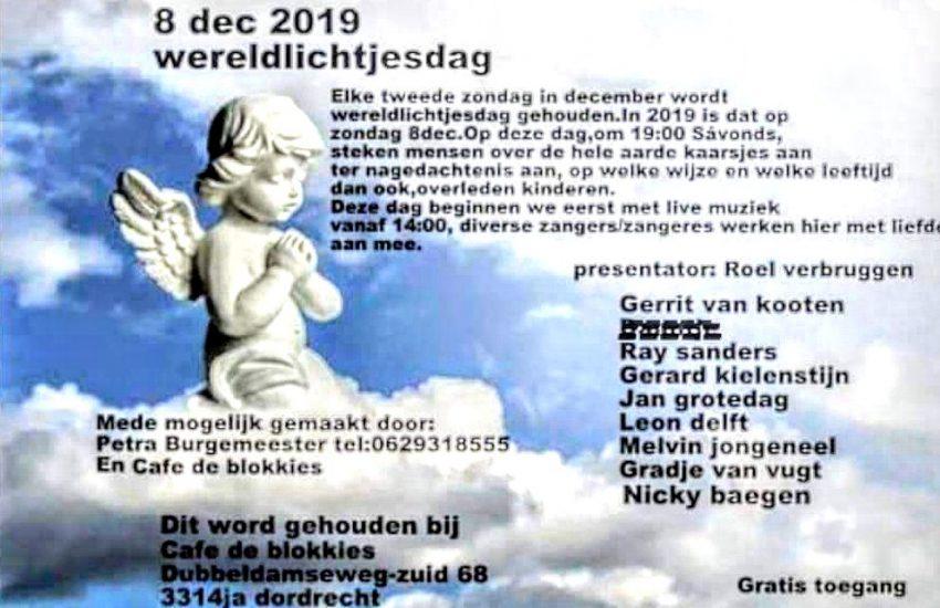 Angels herdenking bij Café De Blokkies in Dordrecht.