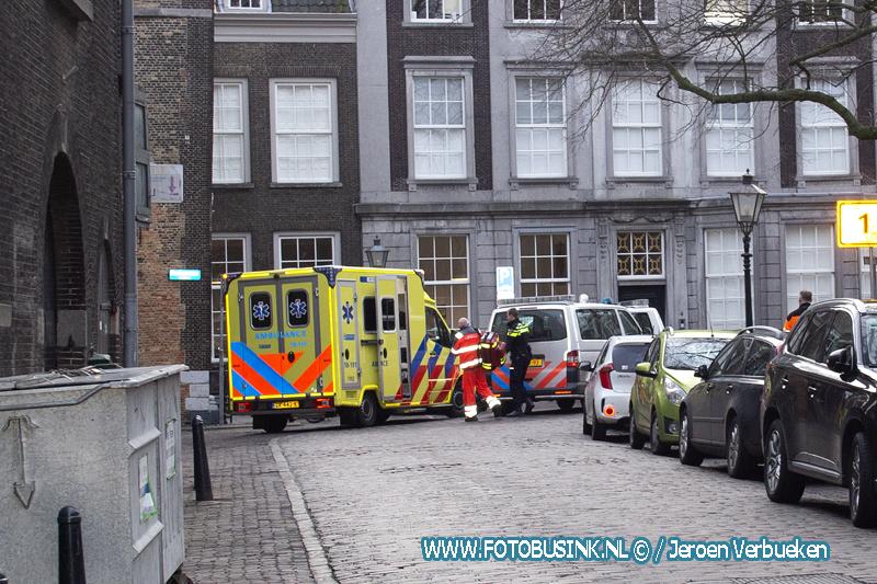 Traumahelikopter opgeroepen voor medische noodsituatie in Dordrecht.