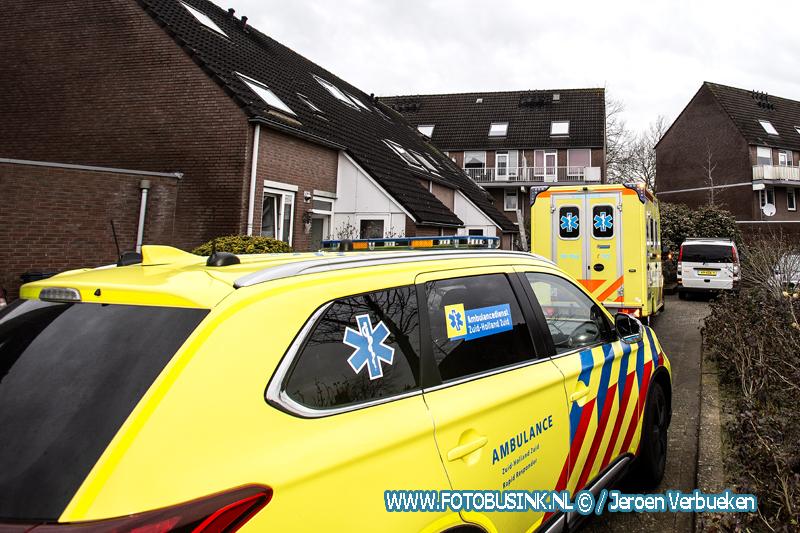 Medische noodsituatie aan het Aletta Jacobs-erf in Dordrecht.