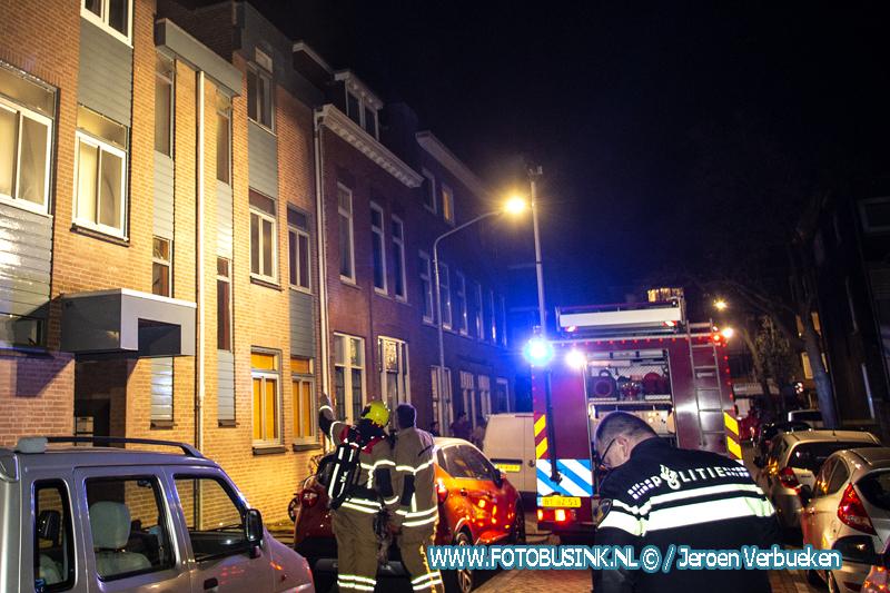 Brand in woning aan de Sophiastraat in Dordrecht.