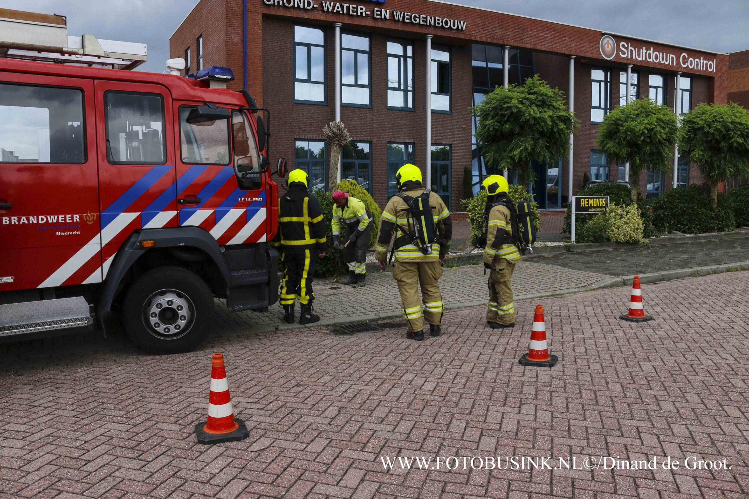 Gaslekkage bij bedrijf aan de Kubus in Sliedrecht.