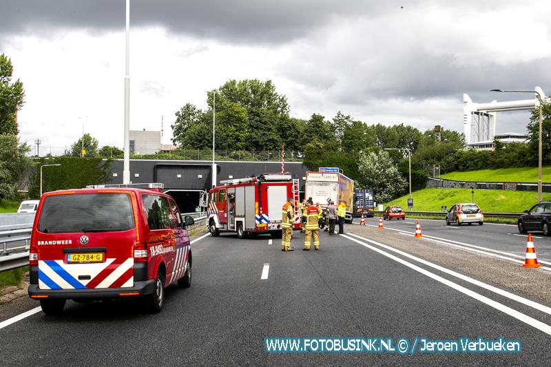 Ongeval A16 Drechttunnel Dordrecht.