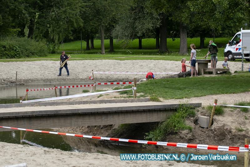 Waterspeelplek in Dordrecht afgezet.