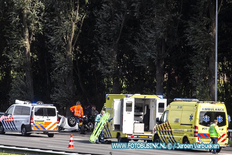 Ernstig ongeval Vrachtwagen Rijksweg A16 Dordrecht.