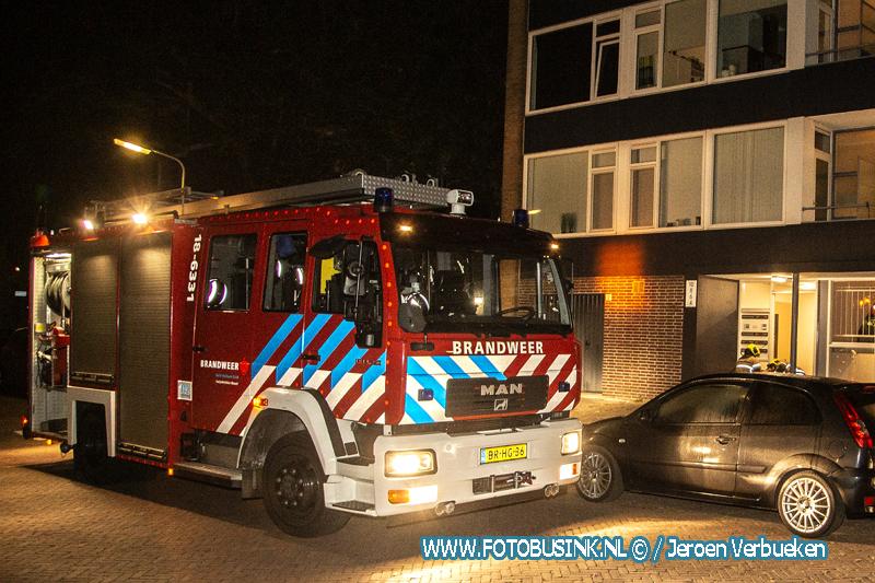 Brandweer Zwijndrecht opgeroepen voor een woningbrand aan de Zonnebloemstraat.