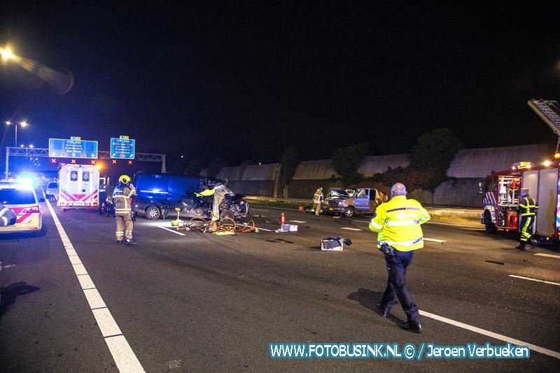 Ernstig ongeval A16 Hendrik Ido Ambacht.