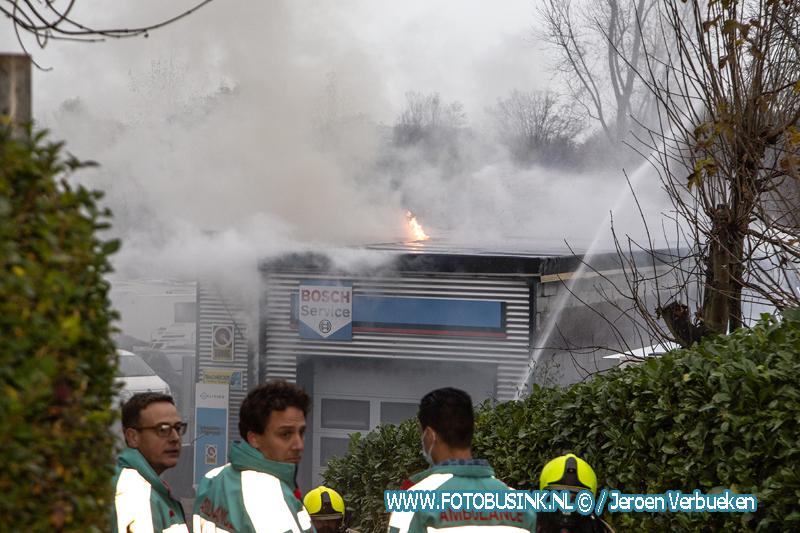 Grote brand aan de Baanhoek in Sliedrecht.
