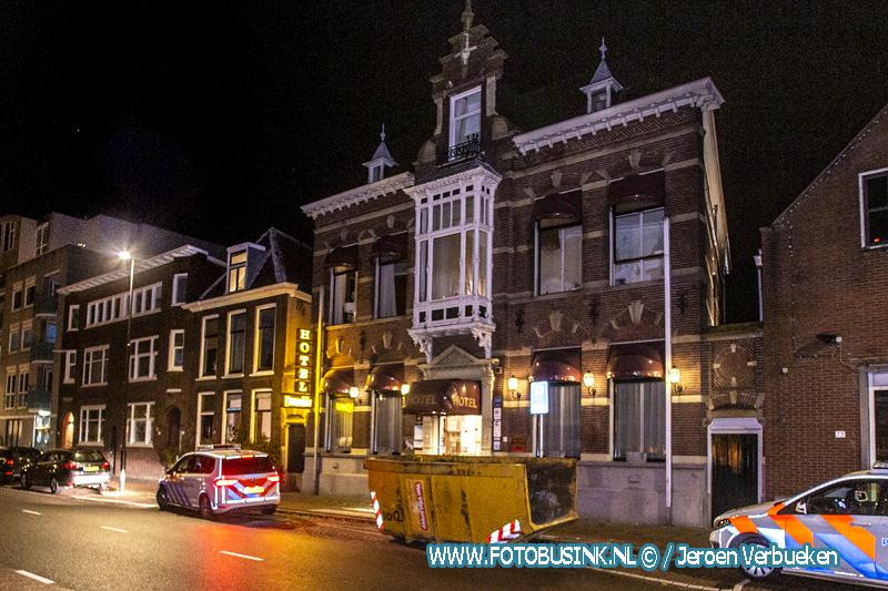 Betrapte inbreker Hotel Dordrecht op de vlucht.