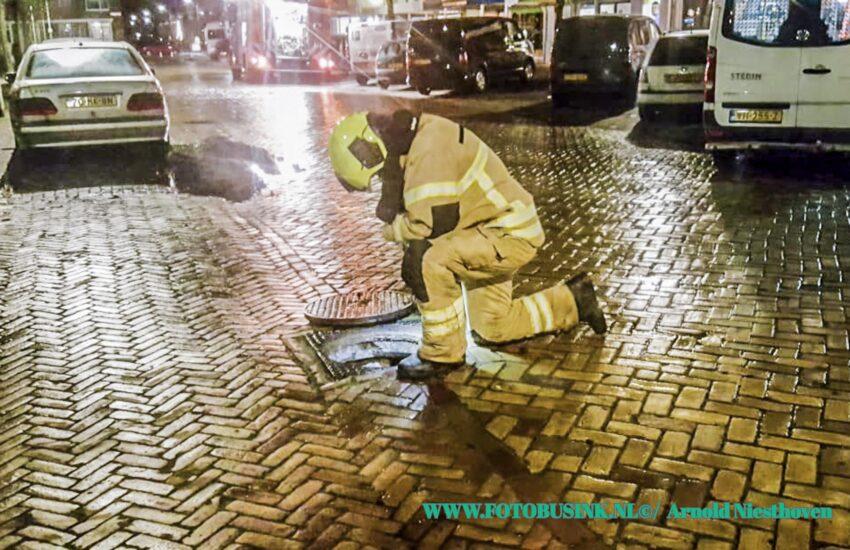 Brandweer opgeroepen voor een melding gaslucht aan de Marinus Spronklaan in Gorinchem