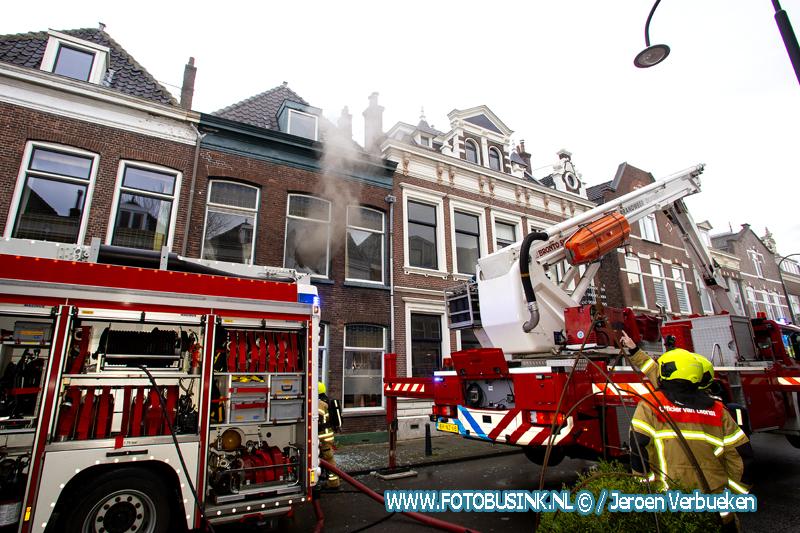 Woningbrand aan de Sint Jorisweg in Dordrecht.
