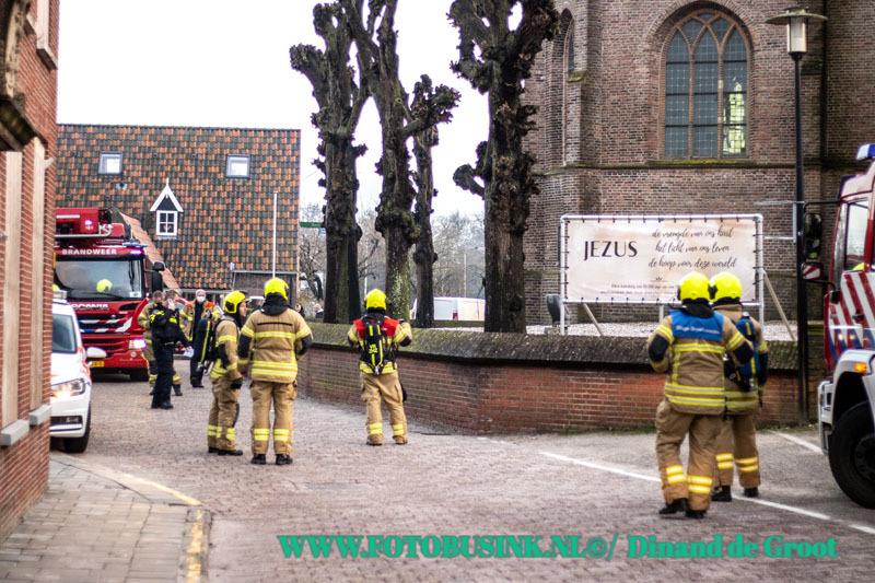 Groot alarm voor brand in kerk in Streefkerk.