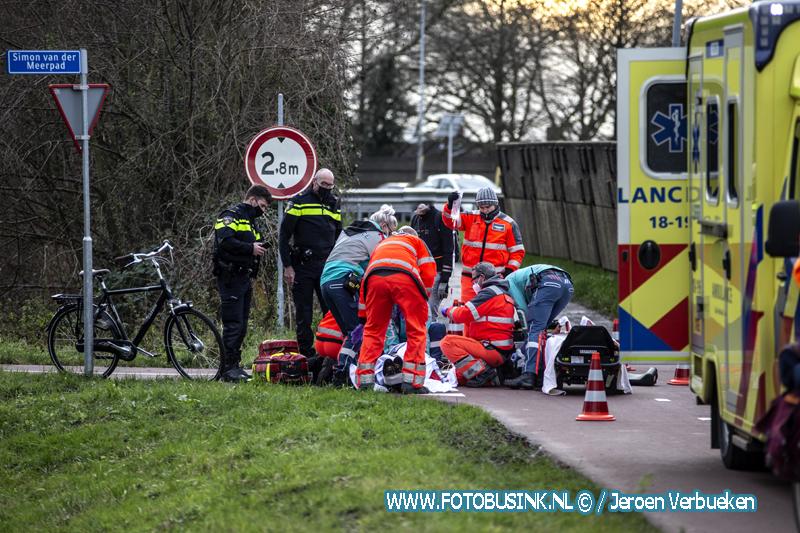Ernstig ongeval afrit N3 fietspad Papendrecht.
