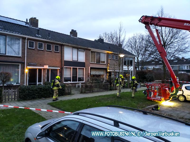 Schoorsteenbrand aan de Alphenstraat Papendrecht.
