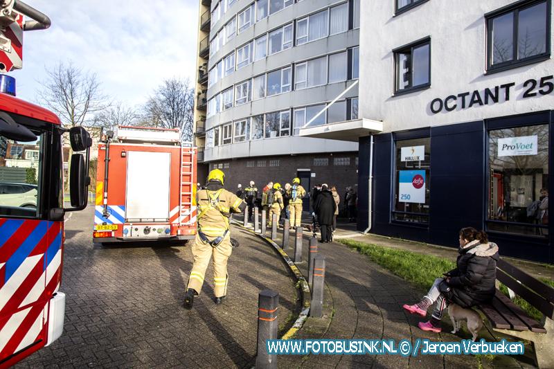 Brandweer Dordrecht opgeroepen voor brand aan de Octant.