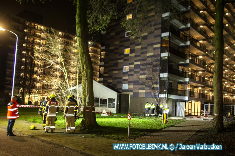 Gaslekkage naast flat Gerbrandyplein in Zwijndrecht.