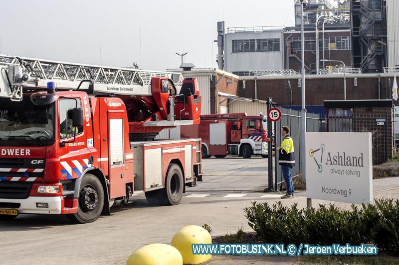Giftige stof ontsnapt bij chemiebedrijf Ashland aan de Noordweg in Zwijndrecht.