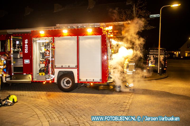 Ladderwagen Rotterdam opgeroepen voor schoorsteenbrand aan de Bilderdijkstraat in Alblasserdam