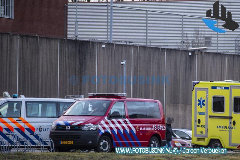 Hulpdiensten opgeroepen voor brand in cel Dordtse Poorten Dordrecht