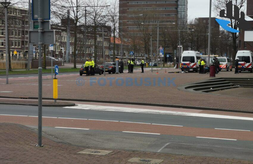 Grote politiecontrole Spuiboulevard Dordrecht