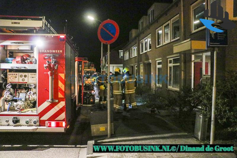 Keukenbrandje aan de A.W. de Landgraafstraat in Sliedrecht.