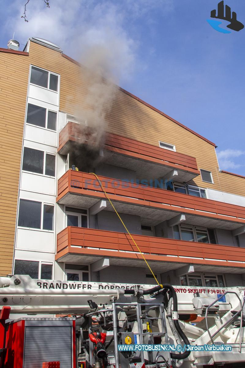 Grote brand aan de Eisingahof in Dordrecht