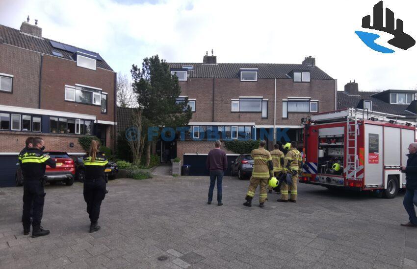 Brandweer opgeroepen voor schoorsteenbrand aan de Luchtenburg in Dordrecht