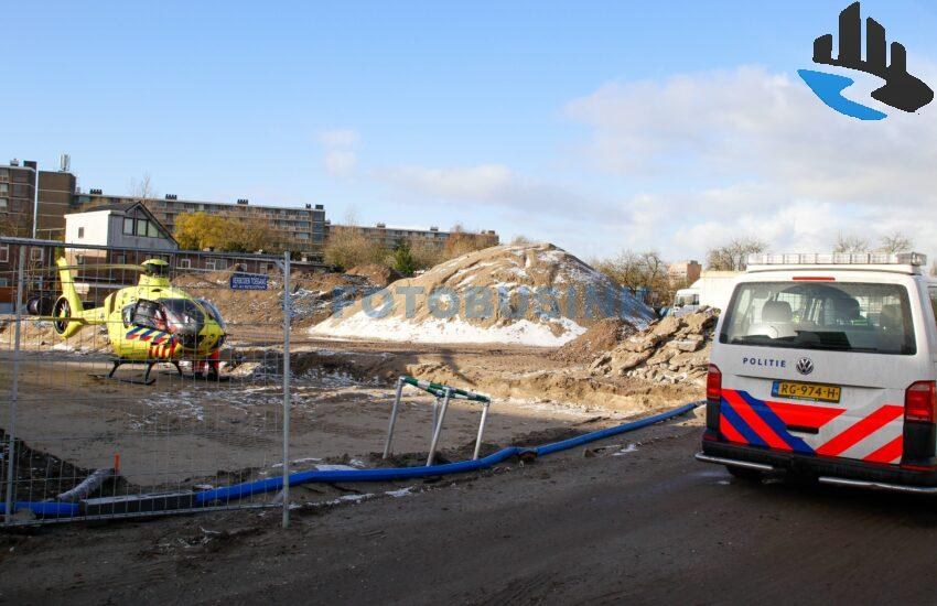 Inzet traumahelikopter op bouwplaats Patersweg voor medische noodsituaties