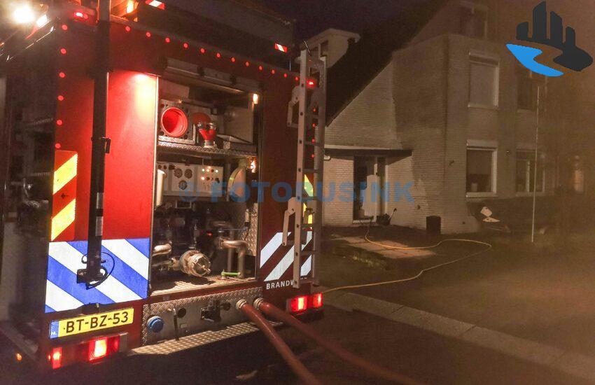 Binnenbrand woning Johanna Naber-erf in Dordrecht