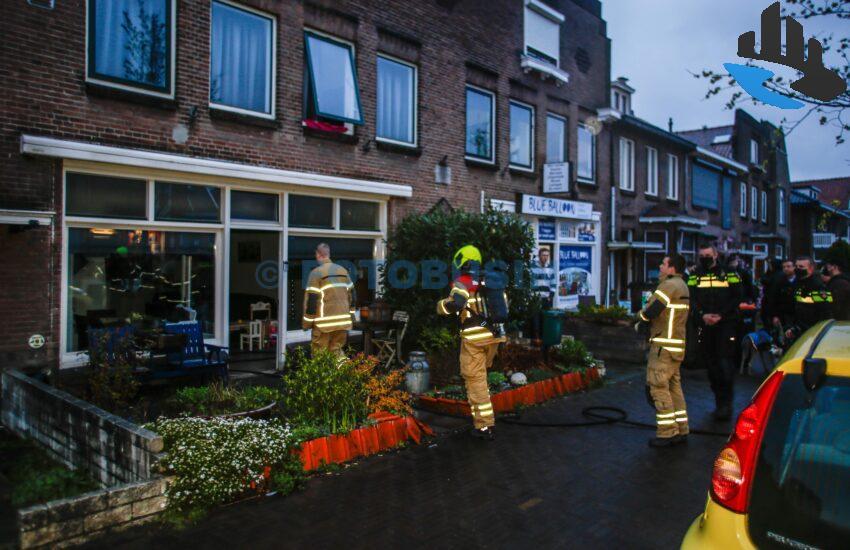 Brandweer opgeroepen voor brand in woning aan de Burg.de Bruinelaan in Zwijndrecht