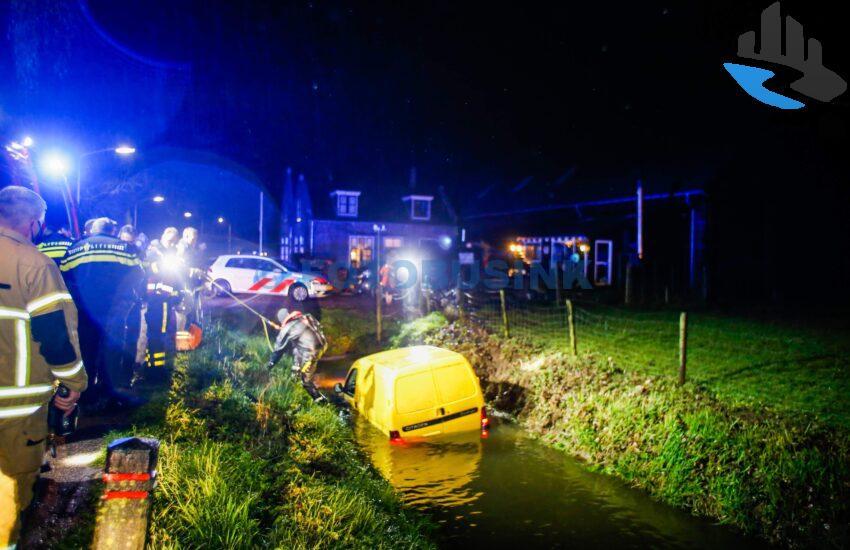 Auto te water Haaswijkweg-Oost Dordrecht
